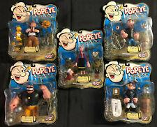 Mezco 2001 Popeye El Sailorman Figura de Acción - Completo 1ST Set - 5PCS (Punta