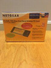 New listing Netgear ProSafe 108 Mbps Dual Band Wireless Pc Card Wag511Na Brand New Sealed