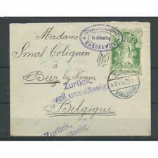 Nederland IN1 op Brief naar  België VFU/gebr CV 225 €