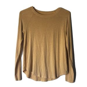 American Eagle Top womens size xs gold long sleeve round neck casual soft