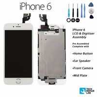 NEW iPhone 6 Retina LCD & Digitiser Touch Screen Full Assembly with Parts WHITE