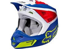 SUPREME Fox Racing V2 Helmet Multi-Color White Green Red Blue L box logo S/S 18