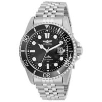Invicta Men's Watch Pro Diver Black Dial Stainless Steel Bracelet 30609