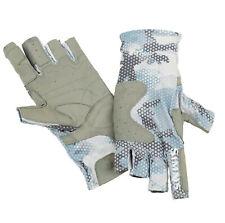 Simms Solarflex Guide Glove Hex Flo Camo Grey Blue - M - Sale & Free US Shipping