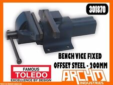TOLEDO 301870 - BENCH VICE FIXED BASE OFFSET STEEL - 200MM