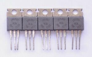 5 x RCA 2N6387 NPN Darlington 65W TO220 Power Transistor NOS