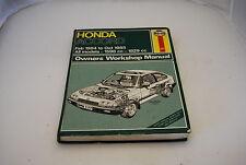 Honda Accord 1984-85 Owner's Atelier Manuel (Haynes)