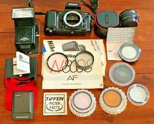 Nikon N8008 Af 35mm Slr Film Camera Body + Manual + Lens + Flash + Filters - Lot
