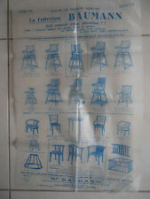 affiche meuble Baumann en bois courbé ( ref 21 )