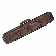 Lucasi Brown Leatherette Soft Pool Cue Case with Black Accents, 4B/8S (LC5)
