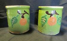 2 ANCIENS POTS CONFITURE SAVOIE terre vernissée poterie