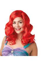 Disney Ariel Wig Little Mermaid Princess Fancy Dress Costume Accessory Adult