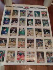 ARIZONA FALL LEAGUE 1999 All-Star card set promo poster w/ letter (Mike Piazza)