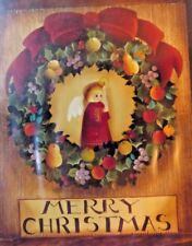 SUSIE SAUNDERS 1989 DELLA ROBBIA ANGEL WREATH FOLK ART PAINTING PATTERN PACK