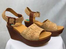 5bd9b96fc31035 Women s Kork Ease Platform Wedge Cork Sandals Size 8 New