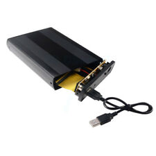 3.5 INCH IDE HARD DISK DRIVE BOX EXTERNAL USB ENCLOSURE CASE BLACK