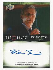 William B. Davis The X Files Ufos & Aliens Paranormal Script Autograph Card Auto