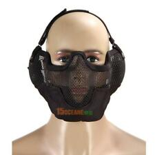 Airsoft Paintball Mesh Protecting Mask Half Face Protect with Ears(Black) #ORP