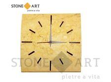 Orologio da parete in pietra fatto a mano - Giallo Sole