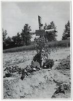 Deutsches Soldatengrab in Frankreich. Orig-Pressephoto, von 1940