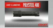 COAST Polysteel 400 Flashlight, 440 Lumens, Heavy Duty, Submersible, Drop Proof