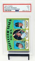 1972 Topps HOF Red Sox Rookies CARLTON FISK Rookie Baseball Card PSA 5 EXCELLENT
