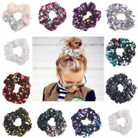 Hair Band Glitter Sequin Rope Ring Scrunchie Ponytail Holder Elastic Girls Gift
