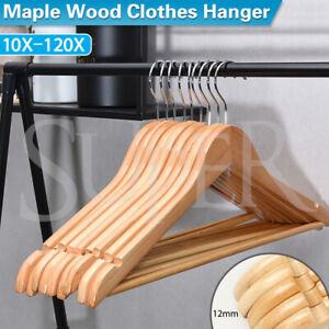 Wooden Clothes Hangers Coat Pant Suit Coat hangers Rack Wardrobe Wood Bulk