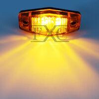 1x Amber LED Indicator Clearance Side Marker Light For Car Caravan Truck Trailer