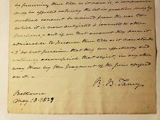 1829 ROGER TANEY ALS SUPREME COURT JUSTICE 'DRED SCOTT' JUDGE ORIG LETTER SIGNED