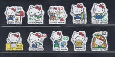 Japan 2018 Hello Kitty Complete Used Set 82Y Sc# 4207 a-j