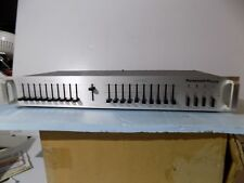 Parasound EQ f210s Silver Version, Stereo 10 Band Graphic Equalizer Eq, Vintage