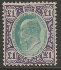 Transvaal MINT EVII 1903 high value £1 green & violet sg258