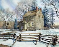 Winter At Valley Forge Art Print 8 x 10