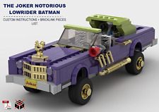 The Joker Notorious Lowrider Car Batman CUSTOM INSTRUCTIONS ONLY for LEGO Bricks