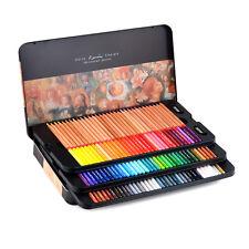 New Marco Renoir 100 Color Drawing Oil Base Non-toxic Pencils Artist Sketch Tin