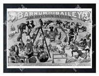 Historic Barnum & Bailey Circus 1890s Advertising Postcard