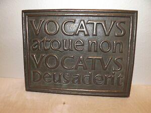 WIld Goose Studio Celtic Vocatus Atque Non Vocatus Bronze Plaque 9.5 x 7 inches