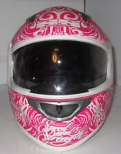 New Speed and Strength SS500 6 Speed Sisters Motorcycle Helmet XS Pink 87-5700