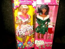 Pair of Barbie Dolls 1996 Russell Stover Candies & 1997  Festive Season  New