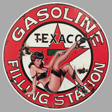 STICKER TEXACO CARBURANT TEXAS COMPAGNIE PETROLIERE PINUP PIN UP GIRL USA TB008