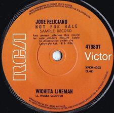 Jose Feliciano ORIG OZ Promo 45 Wichita lineman NM '70 RCA Latin Pop Rock