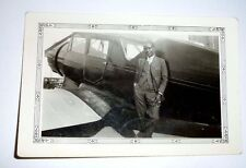 ORIGINAL  PHOTOGRAPH OF EARLY AFRICAN AMERICAN OWNER OF AN AIRPLANE