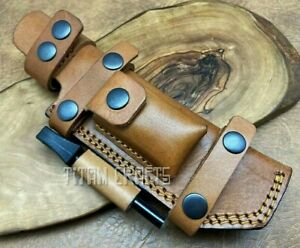 TITANs Premium Cowhide Leather Sheath for Camping Bushcraft Hunting Kinves 2TN-N