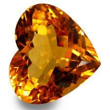 5.32Cts Stunning Natural Attractive Golden Color Citrine Lovely Heart Brazil Gem