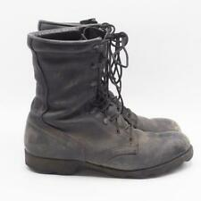 Vintage 80's Military Black Leather Combat Boots Men's 9R RoSearch