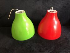 Quirky Pair of Giant Huge Upcycled Light Shades Light Fittings Lamp Shades