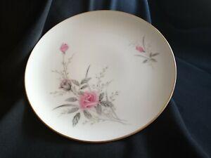 """Vintage Fine China of Japan Golden Rose Pattern Pink Roses 10 1/4"""" Dinner Plate"""