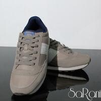 Scarpe Uomo Atlanta Sneakers Casual Sportive Beige Basse Camoscio Lacci SARANI