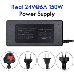 Douk Audio 150W 24V/6A AC/DC Power Supply Adapter Transformer US/EU/UK/AU Plug